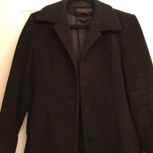 Wool cashmere coat black